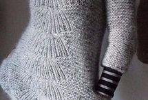 Спицы платье