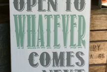 artsy inspiration: signs / by Erica Birnbaum