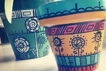 ♡flower pot painting♡