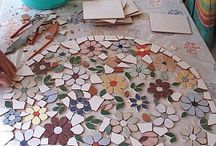 Mozaik kerti asztal