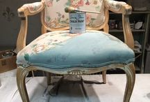 Painting a fabric chair