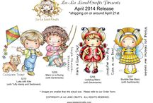 LLLC April 2014 Release! / NEW products and projects from La-La Land Crafts April 2014 Release :-)