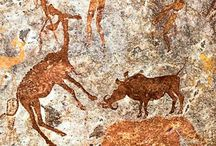 """Cave Art & the San aka Bushmen tribes, Africa / """"The darkest thing about Africa has always been our ignorance of it """" ~ George Kimble, Africa Today, Lifting the Darkness."""