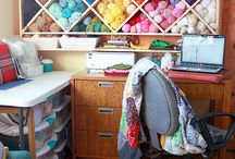 Craft Spaces / How do you organize and decorate your craft spaces? Lots of ideas for knitters, crocheters, sewers, and other fiber enthusiasts.