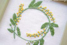 リングピロー 刺繍