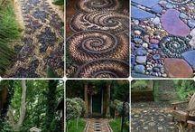 Stone art paths