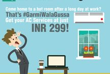 Garmi Wala Gussa / Is the sumer heat making your boss cranky or is making your wife nag a little too much? Are your kids throwing a fit and not doing their homework because of the summer driving them crazy?   What is it that is leading to the summer anger aka 'Garmi Wala Gussa'?   Tell us, and get a chance to get AC service at just INR 299! Because the air conditioning can cool down most types of anger! ;)