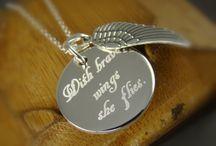Personalized Word Art Jewelry / Custom Engraved Word Art Jewelry