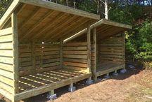 Firewood sheds