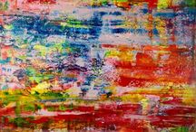 Lots of orange abstracts!!! / Vibrant abstract paintings with predominantly orange and similar colors!