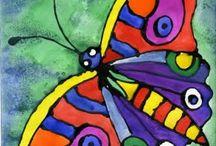 elementary art -  butterflies, dragonflies, etc. / by Laine Van