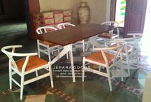 Hans Wegner Dining Set Inspiration from Jepara Goods Indonesia