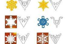hópehely sablonok