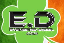 Engineered Diesel Holiday Logos / We are very festive at Engineered Diesel. We also like to switch up our logo with the holidays. Here are a few. #engineereddiesel #logo #holiday