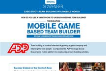 Team Building App / Team Building with videos, photos and augmented reality stickers - what could be more fun?  Check out some classic content - and for team building and event professionals consider using Social Scavenger to power your activities - for Android and iPhone.