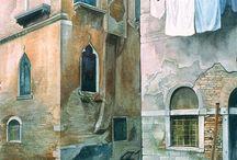 aquarel architectuur