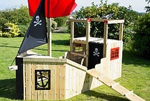 Garden pirate ship