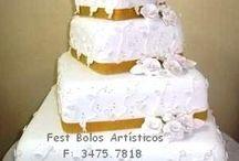 Bolos cenográficos para casamento / Aluguel e venda de bolos para RS