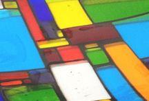 colourful glass by Jenie Yolland