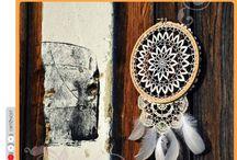 DIY dreamcatcher / How to create DIY dreamcatcher with embroidery circle frame and old lace. / Návod na výrobu lapače snů pouze za pomocí staré krajky a vyšívacího kruhu.