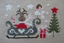 vyšívání vánoce