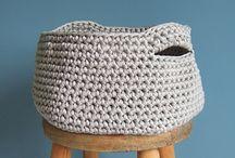 Paniers au crochet