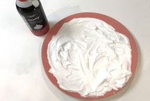covering pots with shaving cream