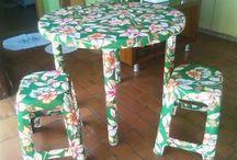 customização de mesa cadeira