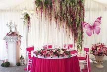 Фуксия на свадьбе