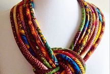 African fabric knotted...