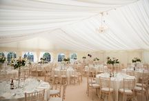 Neutral colour schemes for a wedding / A selection of images of marquee weddings and events with neutral colour schemes