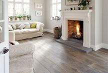 Wood flooring at home