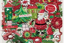 Santa's Here! / http://scraporchard.com/market/Santa-s-Here-Digital-Scrapbook-Kit.html
