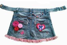 stofFUN ♥ denim / Fun ideas to recycle jeans.