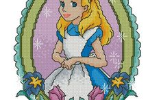 Disney Alice im Wunderland Cross Stitch