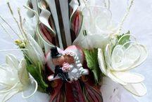 Velas decoradas para Bodas / Os proponemos unas bonitas velas cortadas a mano y con decoración especial para boda. Unas velas que sorprenderán a todo el mundo por su terminación.