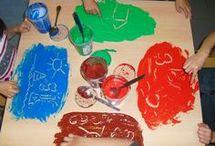 técnica de pintura para crianças