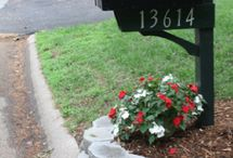 mail box landscaping / by Shirley Smith