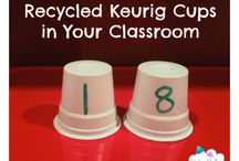 Repurposing items in the classroom / Recycle repurpose items for the classroom.