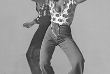 Fashion in the 1970`s, the hippie- and disco- era.