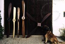 Home design - wooden propellers