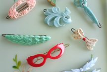 Pretty Plastic Barrettes / A collection of those beautiful plastic barrettes with the metal clasp. We all wore these as young girls and I think they were the prettiest barrettes ever!