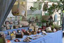 Craft fair stalls