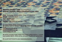 Interior Lifestyle Tokyo 2014 / Hey guys! We are taking part in this Exhibition/Fair with a range of products- scarves/stoles/fabrics/swatches/garments. Its in Tokyo, Japan between 4th-6th of June 2014. Please do come visit us and spread the word!