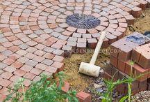 Brick garden decor