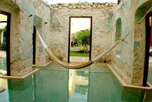Outdoor Spaces / garden, patio, relax, pool, garden features, garden sculpture, garden art