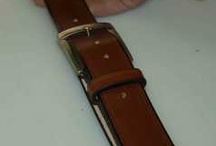 How to make a leather belt. / For those of you that want to know what goes into the making of a full grain leather belt.
