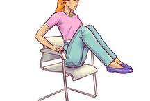ejercicios en silla