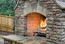 Outdoor Fireplaces / by Shelly@The Domestic Heart Blog