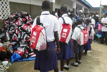 Sierra Leone / June 2010 - The first SchoolBag project under our own umbrella, run by the Piers Simon Appeal. 400 SchoolBags were handed out to 2 orphanages and 1 school in Freetown and Kamikwe in association with Hanci and Orphfund.